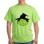 Happy Green Witch Green T-Shirt