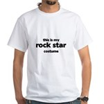 this is my rock star costume White T-Shirt