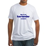 this is my bartender costume Fitted T-Shirt