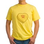 Kiss Me Candy Heart Yellow T-Shirt