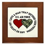 Air Force I love a man ... Framed Tile