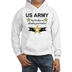 Army Brothers Defending Freed Hooded Sweatshirt