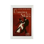 Distressed Retro DWTS Poster Rectangle Magnet (10 pack)