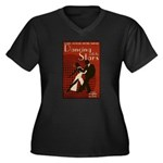 Distressed Retro DWTS Poster Women's Plus Size V-Neck Dark T-Shirt
