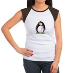 Breast Cancer penguin Women's Cap Sleeve T-Shirt