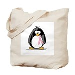 Breast Cancer penguin Tote Bag