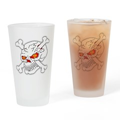 Zombie Skull Drinking Glass