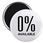 """0% Available 2.25"""" Magnet (10 pack)"""