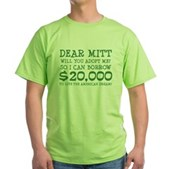 Mitt Will You Adopt Me? Green T-Shirt
