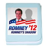 Anti-Romney Shadow baby blanket