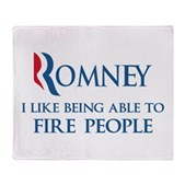 Anti-Romney: Fire People Stadium Blanket
