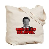 Anti-Romney: Unfit To Serve Tote Bag
