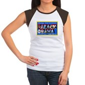 Greetings from the President Women's Cap Sleeve T-