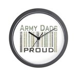 Military Army Dads Proud Wall Clock