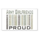 Military Army Girlfriends Proud Sticker (Rectangul