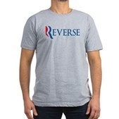 Anti-Romney Reverse Men's Fitted T-Shirt (dark)
