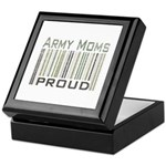 Military Army Moms Proud Keepsake Box