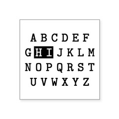 Alphabet Hi Square Sticker 3