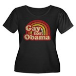 Gay for Obama Women's Plus Size Scoop Neck Dark T-