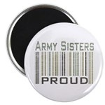 Military Army Sisters Proud Magnet