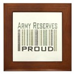 Military Army Reserves Proud Framed Tile