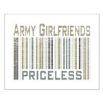 Army Girlfriends Priceless Barcode Small Poster