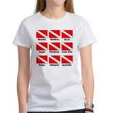 Dive Flags of the World Women's T-Shirt