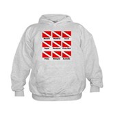Dive Flags of the World Kids Hoodie