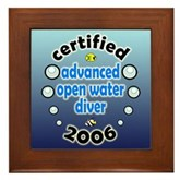 Certified AOW Diver 2006 Framed Tile