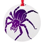 Purple Spider Round Ornament