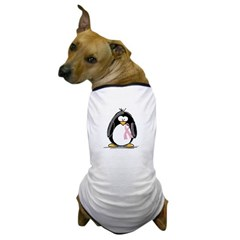 Breast Cancer penguin Dog T-Shirt