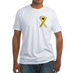 Keep My Daughter Safe Yellow Ribbon Fitted T-Shirt