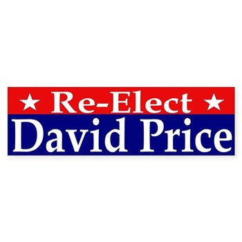 Re-Elect David Price to Congress bumper sticker