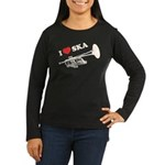 I Love Ska Women's Long Sleeve Dark T-Shirt