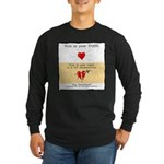 No Bad Relationships! Long Sleeve Dark T-Shirt
