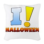 I ! Halloween Woven Throw Pillow