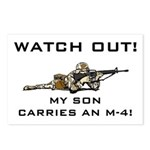 WATCH OUT MILITARY SON M-4 Postcards (Package of 8