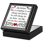 Coast Guard Poem of Love Keepsake Box