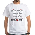 Coast Guard Poem of Love White T-Shirt
