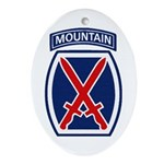 10th Mountain Division Ornament (Oval)