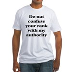 Do not confuse your rank with my authority Fitted