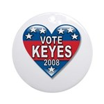 Vote Alan Keyes 2008 Political Ornament (Round)