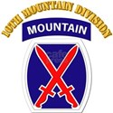 SSI - 10th Mountain Division with Text Women's T-S