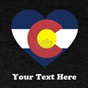 Colorado Flag Heart Personalized T-Shirt