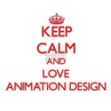 Keep calm and love Animation Design T-Shirt