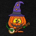 Pumpkin Man Playing Banjo T-Shirt