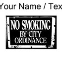 Custom No Smoking By City Ordinance T-Shirt