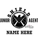 Personalized Junior SHIELD Agent White T-Shirt