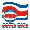 Costa Rica Soccer Ball and 2.25' Button (10 pack)