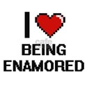 I love Being Enamored Digitial Design T-Shirt